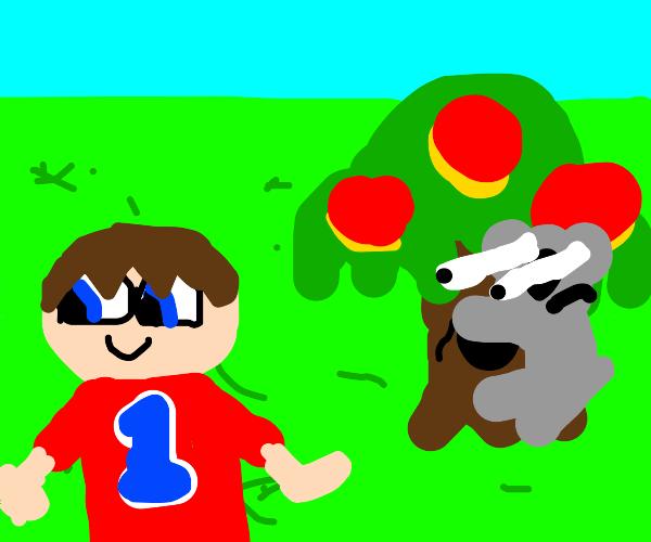 Animal Crossing Villager stalked by Koalas