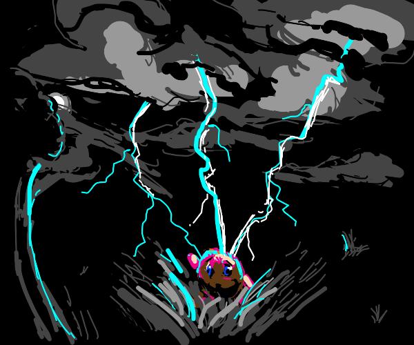 Lightning strikes kirby