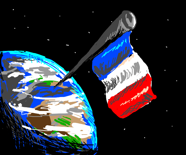 French flag on top of the world?