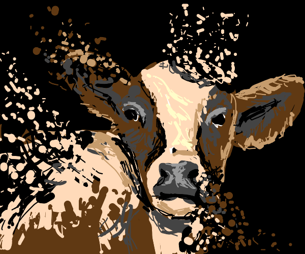 Cow slowly disappears