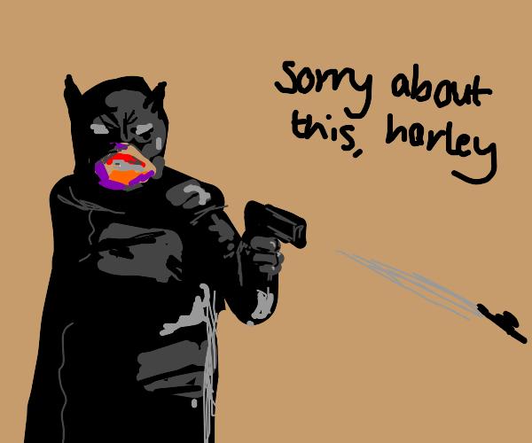 Batman shots Harley Quinn