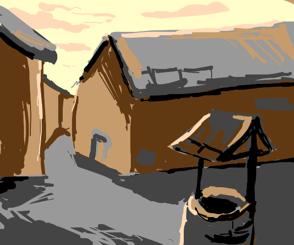 Town with a well