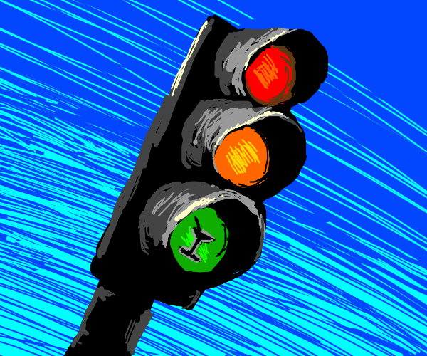 Mr Traffic Lights has a 1 red, 1 yellow drink
