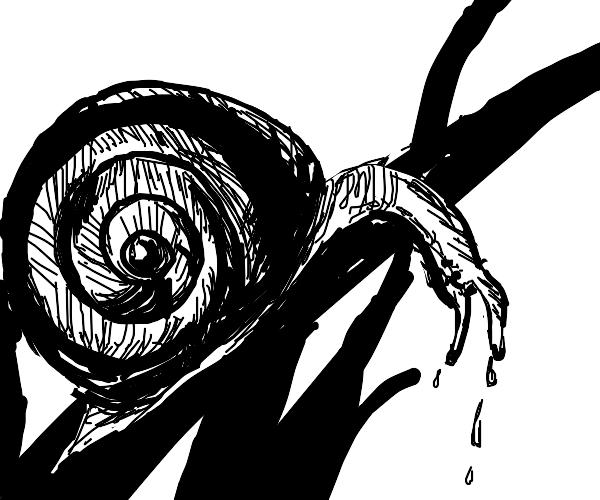 Heartbroken snail