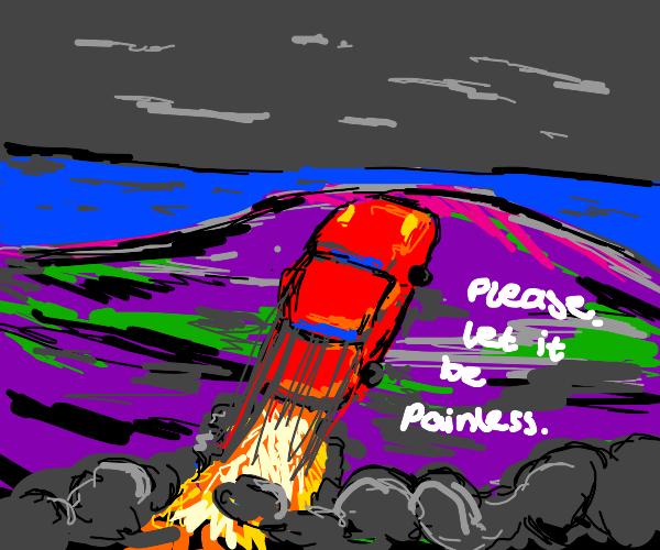 Suicidal race car