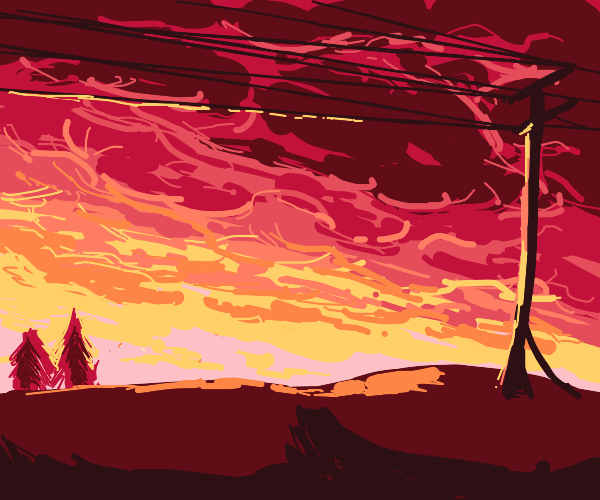 pretty red sky, sun might explode idunno