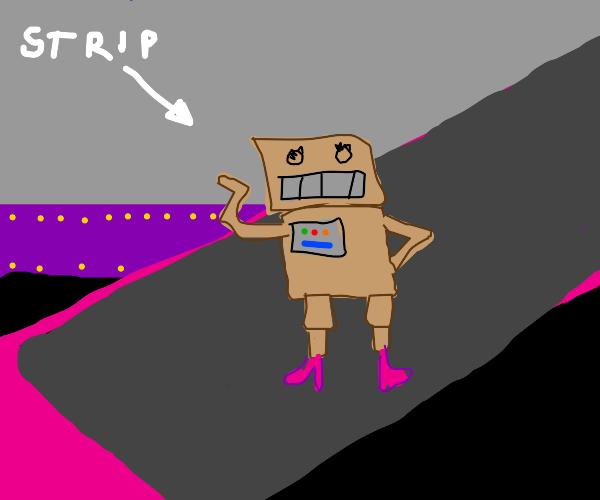 Robot strip club