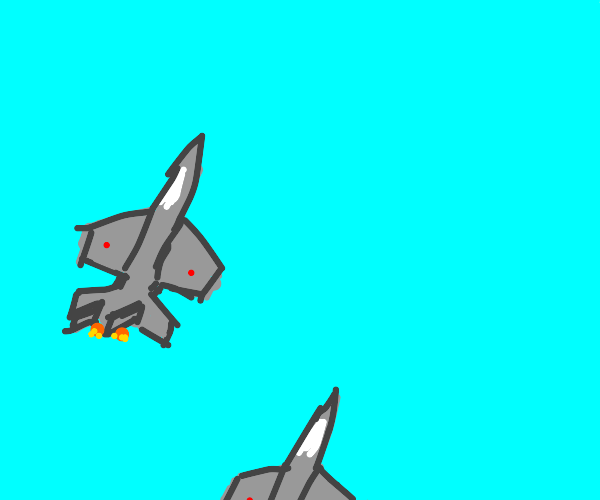 Airplanes soar up into the sky.