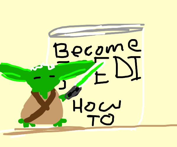 Yoda giving a Presentation