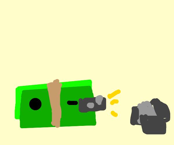 money takes photo of rocks