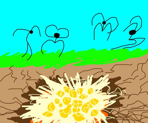Lemon exploded underground