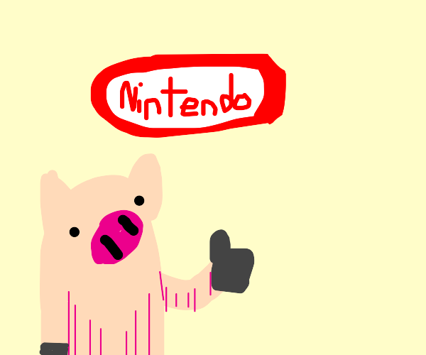 Pig supports Nintendo