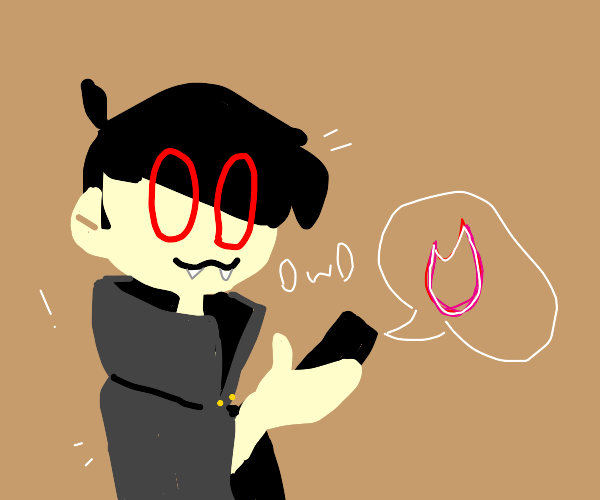 vampire uses tinder and says owo