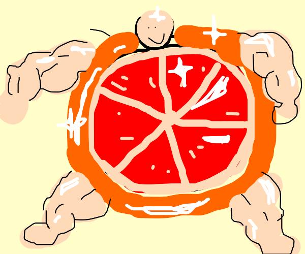 glistening grapefruit