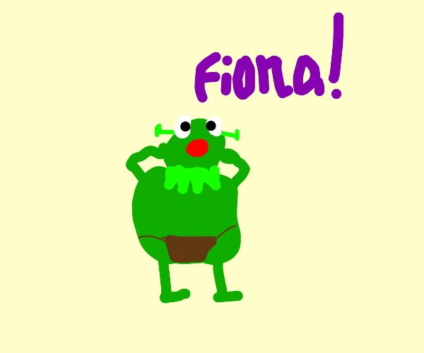 kermit yells out fiona
