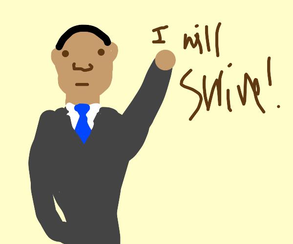 Obama made a deal, he will swim