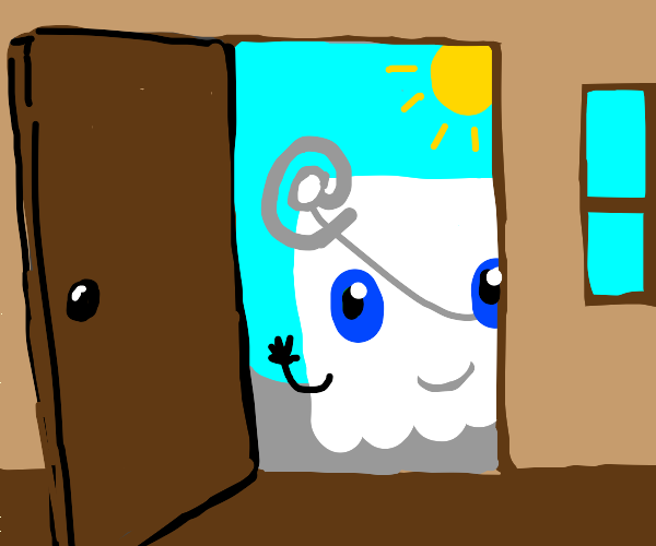 Friendly Email Ghost at the door