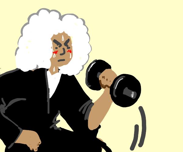 Judge doing weights