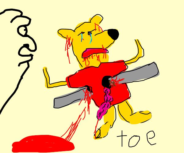 Winnie poo impaled