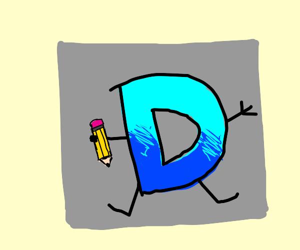 drawception logo on a gray square