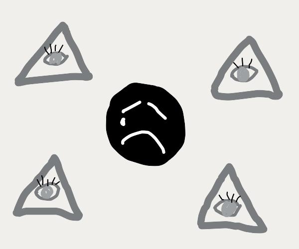 guy sad about illuminati paranoia