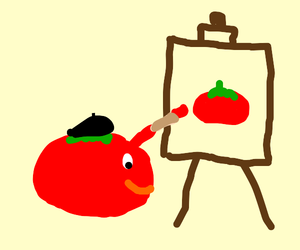 tomato became artist