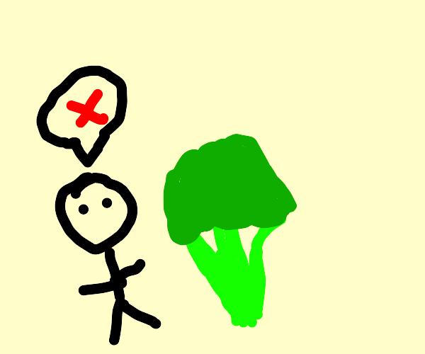 man hates eating vegies