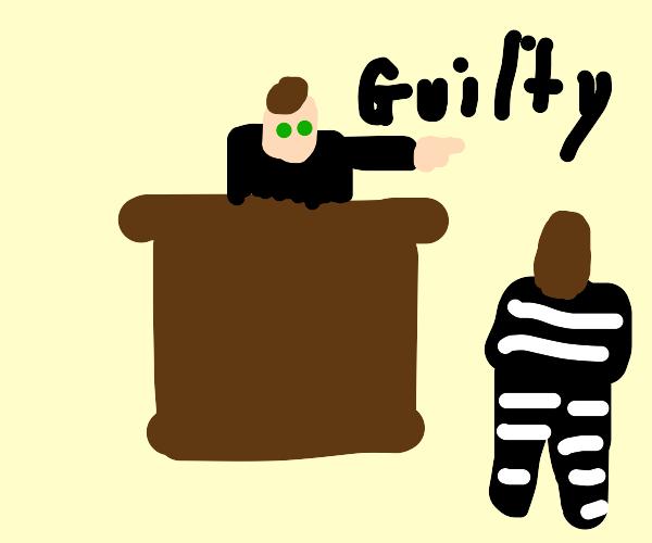 judge declares accused guilty
