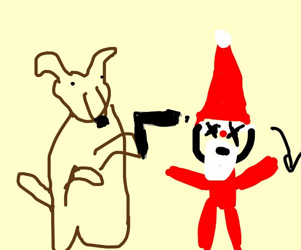 Dog kills Santa
