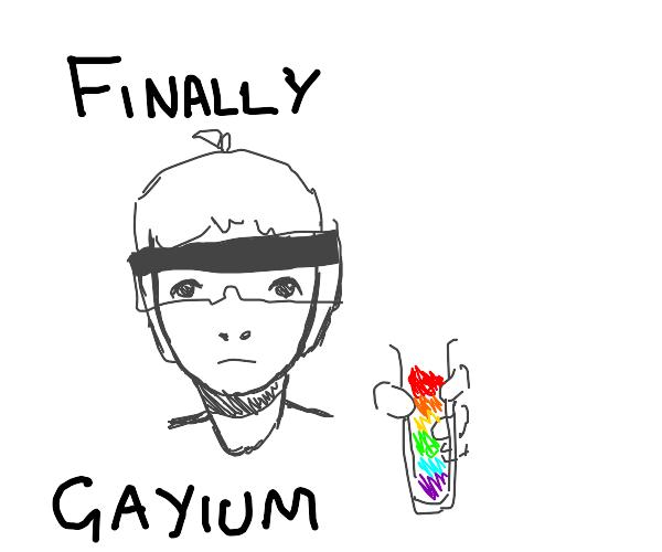 dude invents new element, gayium