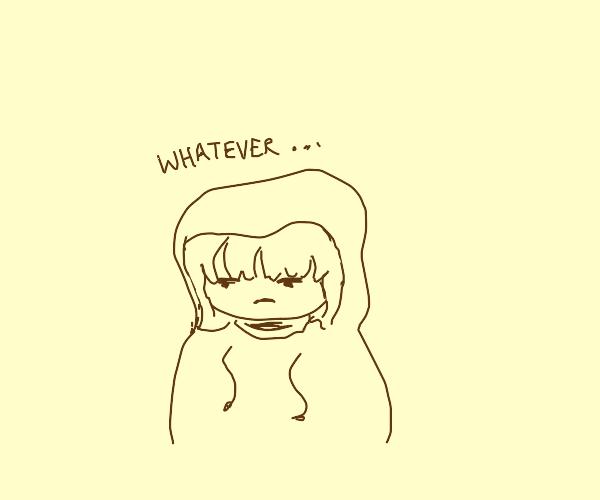Angsty teenage girl (wannabe emo)