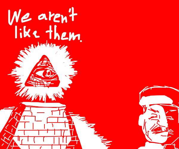 the Illuminati insist they're not communists