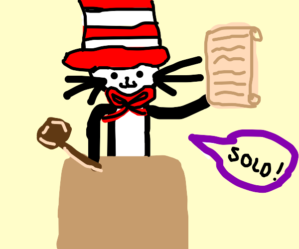 Cat in the Hat auctioning a Letter