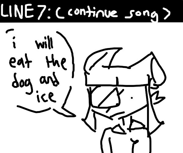 weird lyric 6 I have a tumour inside my rice