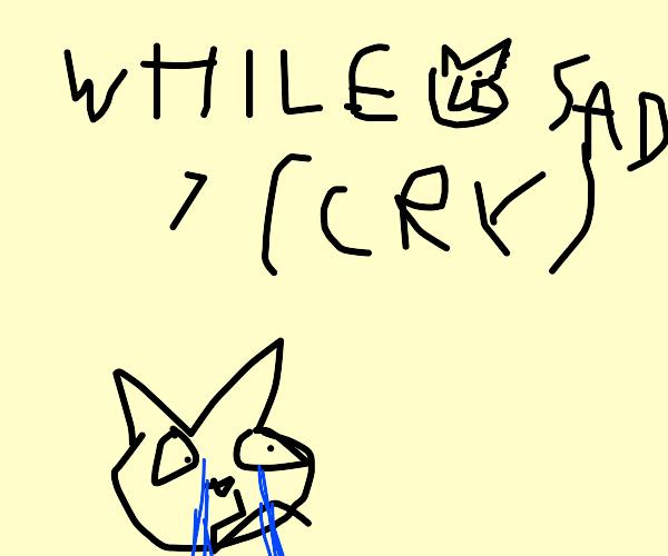 crying cat loop