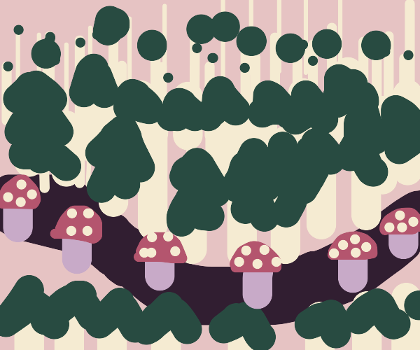Forest with Mushrooms