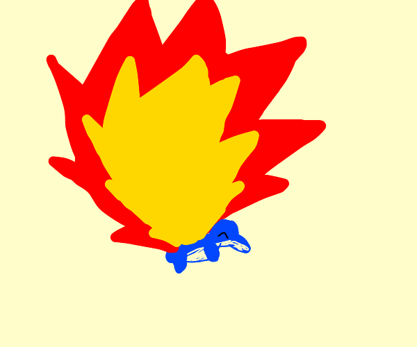 cyndaquil but the flame is way too large