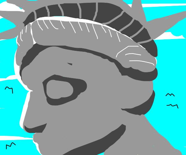 statue of liberty close-up