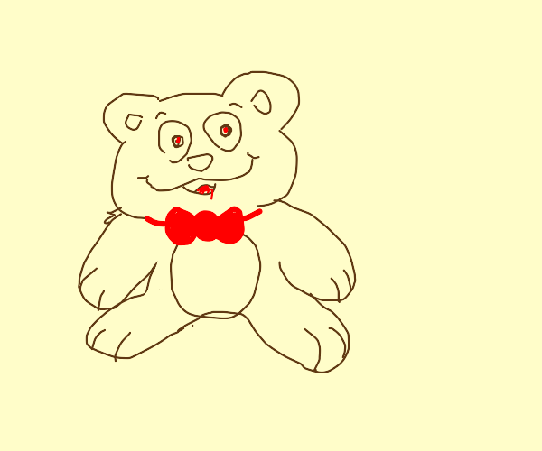 teddy bear with red bow tie
