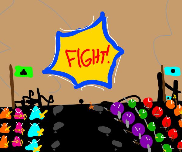 The legendary battle - Triangle vs Circle