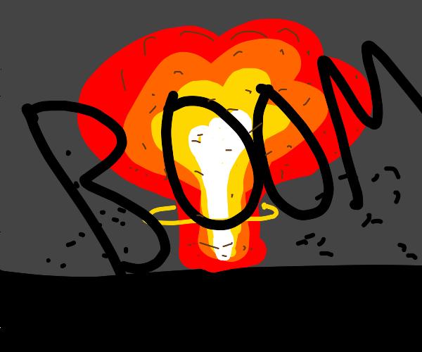 explosion                                   .