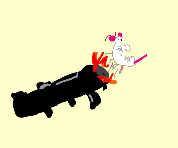 Bazooka shoots a moose!