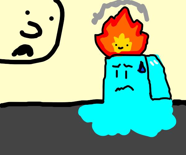 Accidentally turturing an ice cube
