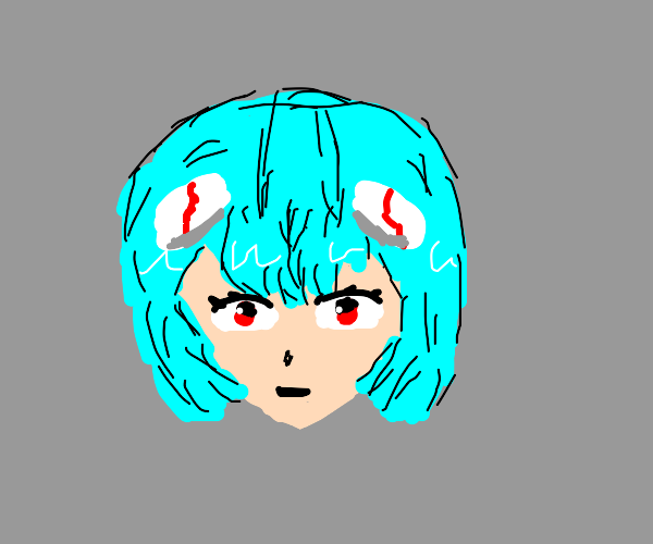 Rei from Evangelion but only the head