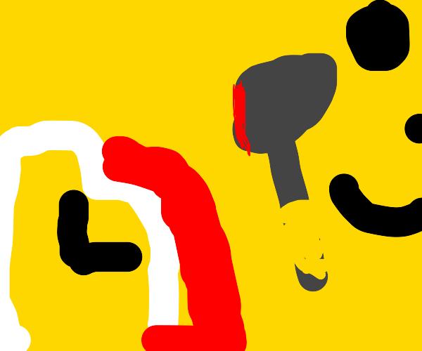 Yellow blanket killing a clock