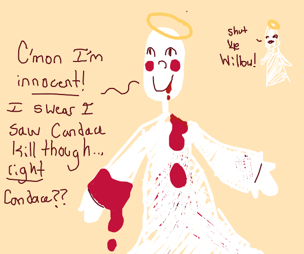 Blood-soaked angel insists she is innocent