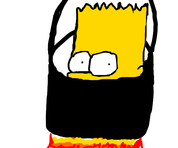 Cooking Bart Simpson's head