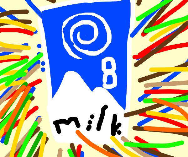 Lucky 8 ball but milk