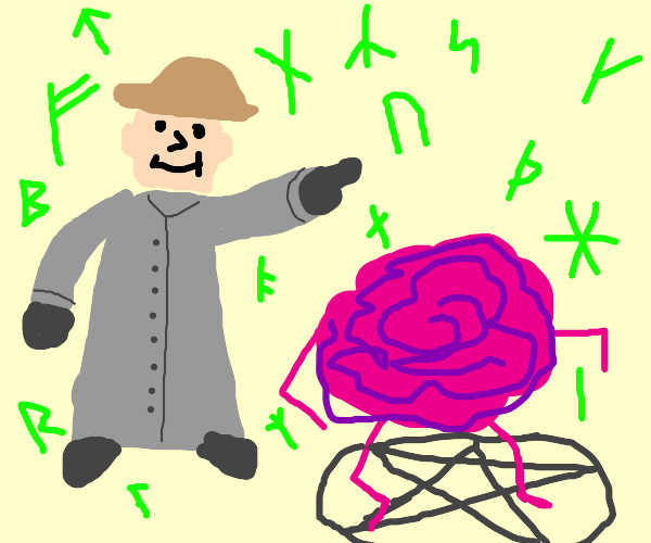 Inspector Gadget summons his stand Brain