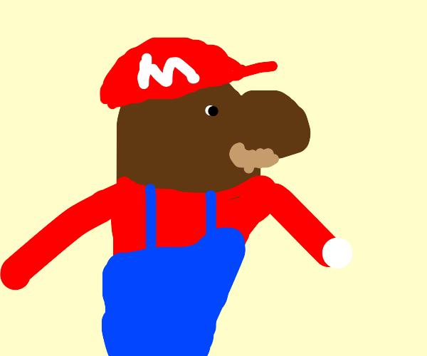 Dark skinned Mario